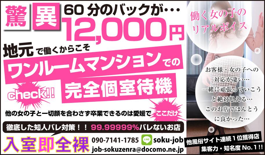 松山市 入室即全裸~過激にお伺い~松山店[デリバリーヘルス]の求人ページへ